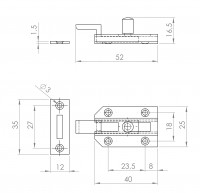 Profilriegel, gekröpft | L. 2107