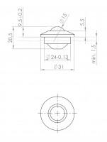 Druck-Kugelrolle | L. 5027