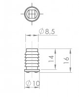 Magnetschnäpper zum Einlassen | L. 2042