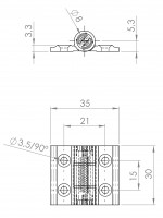 Aluminiumprofil-Spannfederscharnier   L. 1888