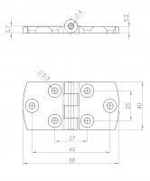 Kunststoff-Design-Scharnier | L. 1904