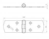 Scharnier / Kistenband   L. 1041